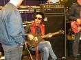 Earl Slick tuning up.