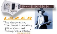 "Mark Erlewine designed Johnny Winter's ""Lazer"" guitar."